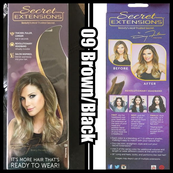 1 Set Of Brownblack Secret Extensions Nwt